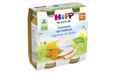 Hipp          Groenten-Rijst-Kalkoen | Bio | 12M