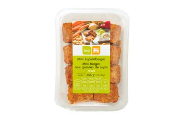 Lupineburger met groenten   Bio