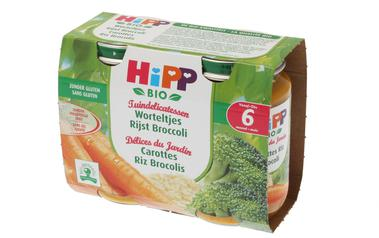 Hipp          Wortelen-Rijst-Broccoli | Bio | 6M