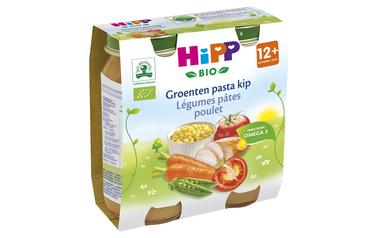 Hipp          Groenten-Pasta-Kip   Bio   12M