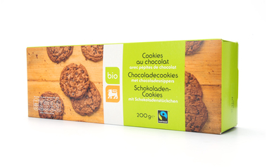Bio     Delhaize     Cookies | Chocolade | Bio | Fairtrade