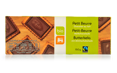 Bio     Delhaize     Petit beurre | Melkchoc | Bio | Fairtrade Belgium